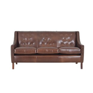 Merveilleux Woburn Genuine Top Grain Leather Sofa