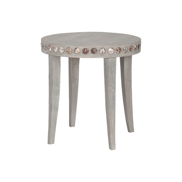 Ingleside Shell End Table by Rosecliff Heights