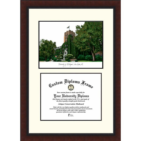NCAA Michigan Wolverines Legacy Scholar Diploma Picture Frame by Campus Images