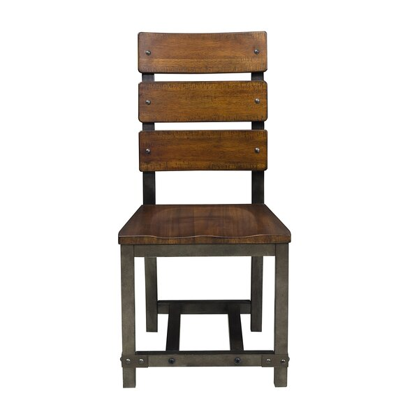 Liam Ladder Back Side Chair In Rustic Brown (Set Of 2) By Millwood Pines