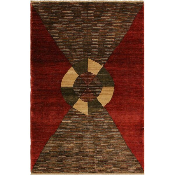 One-of-a-Kind Milo Hand-Knotted Wool Red/Brown Area Rug by Fleur De Lis Living