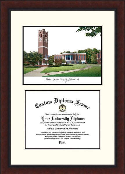 NCAA Western Carolina University Legacy Scholar Diploma Picture Frame by Campus Images