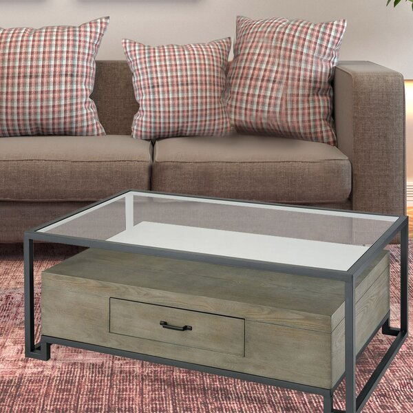 Sewell Coffee Table In Pewter by Brayden Studio