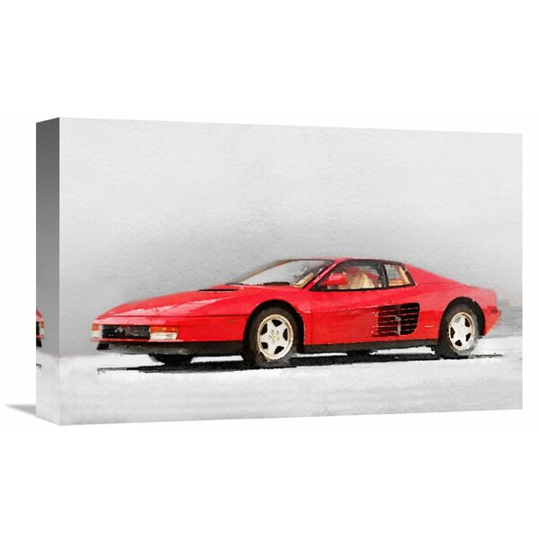 1983 Ferrari 512 Testarossa Painting Print on Wrapped Canvas by Naxart