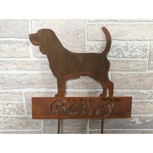 Trautman Beagle Garden Stake by Red Barrel Studio