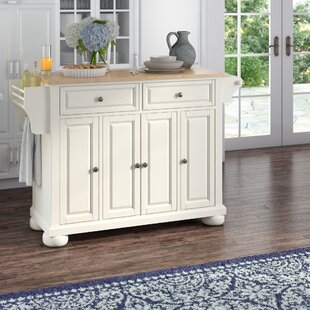 Pottstown Kitchen Island with Solid Wood By Darby Home Co