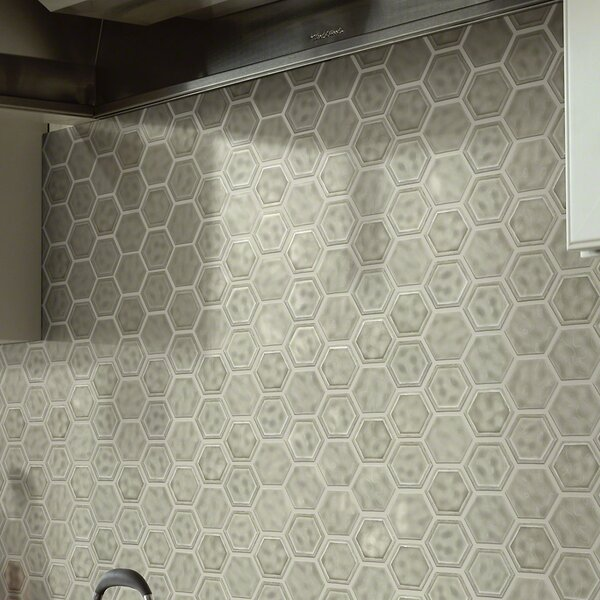 Victoria Hexagon 0.64 x 0.64 Ceramic Mosaic Tile in Taupe by Shaw Floors