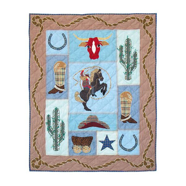 Cowgirl Cotton Crib Quilt by Patch Magic