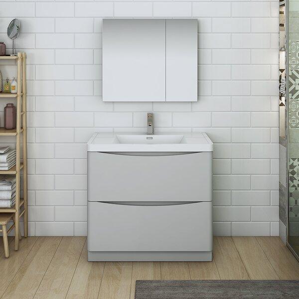 Senza Tuscany 36 Single Bathroom Vanity Set with Medicine Cabinet
