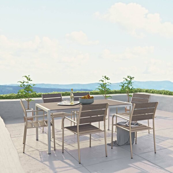 Coline Outdoor Patio 7 Piece Dining Set by Orren Ellis