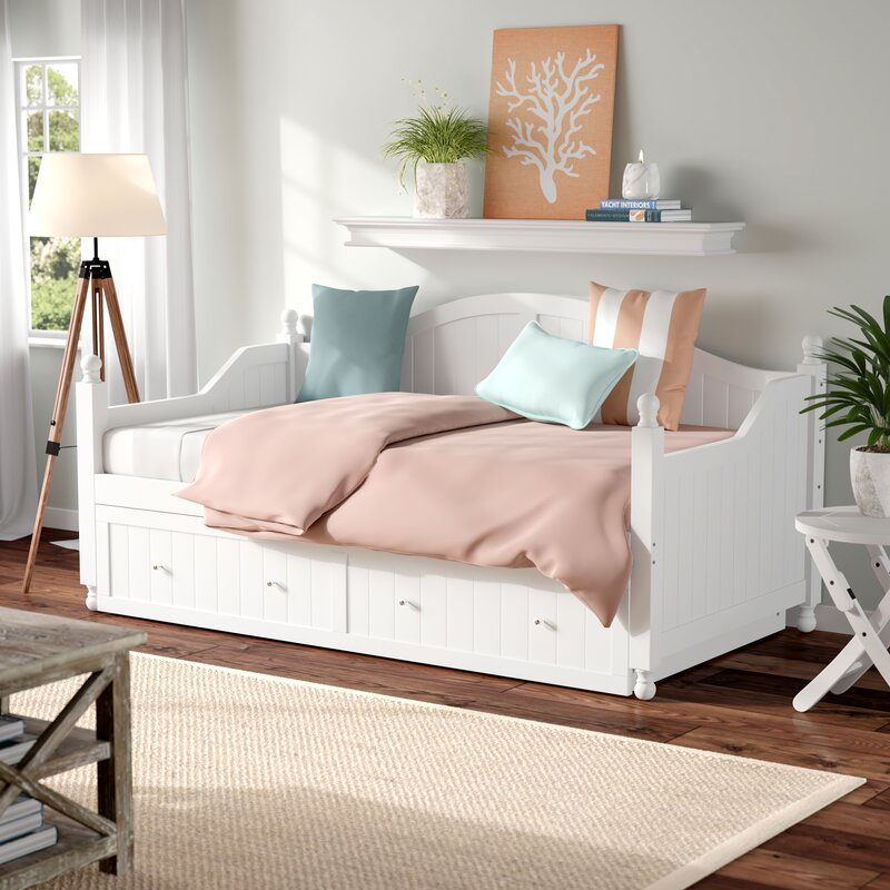 Beachcrest Home Pennrock Twin Daybed With Trundle Reviews Wayfair