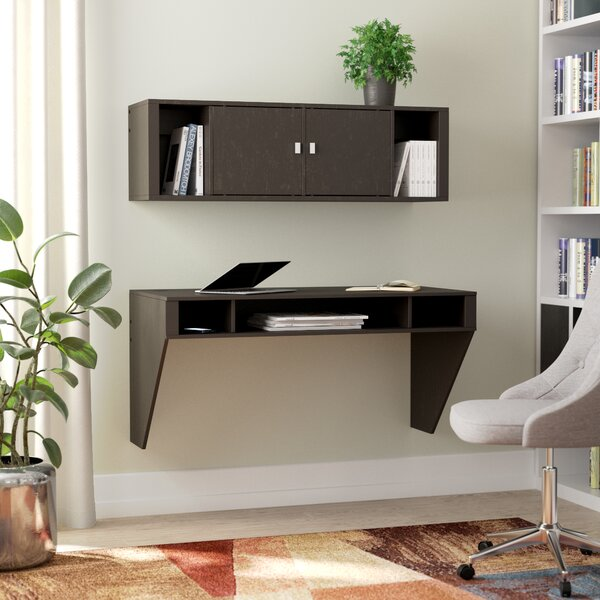 Dowlen Floating Desk with Hutch by Zipcode Design