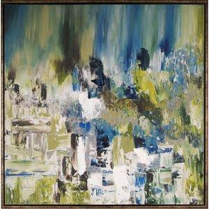 'Summer Pond I' Framed Painting by Latitude Run