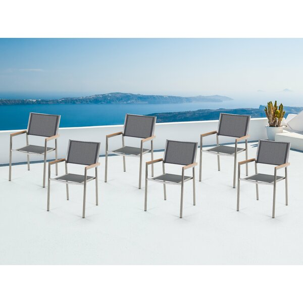 Alvils Stacking Patio Dining Chair by Latitude Run