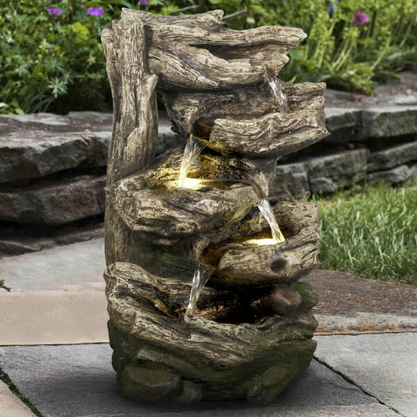 Polyresin Multi Level Branches Fountain with LED Light by Hi-Line Gift Ltd.