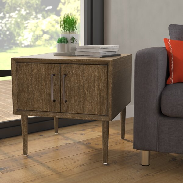 Napoleon End Table With Storage By Langley Street™