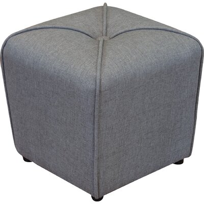 Bellatrix Tufted Cube Ottoman Upholstery Color: Gray by Andover Mills