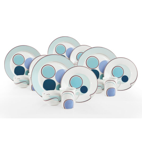 Halsa Portion Control 16 Piece Dinnerware Set, Service for 4 by Livliga