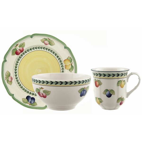 French Garden Fleurence 12 Piece Dinnerware Set, Service for 4 by Villeroy & Boch