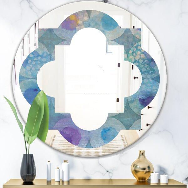 Quatrefoil Watercolor Circles II Eclectic Wall Mirror