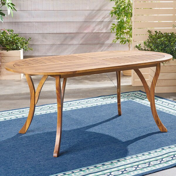 Whitehead Outdoor Wooden Dining Table by Bay Isle Home