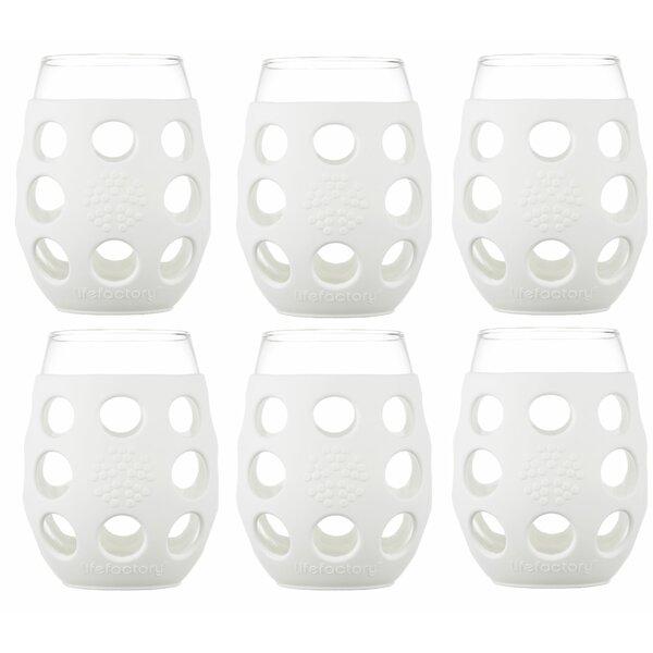 6 Piece 11 oz Wine Glass Set by Lifefactory