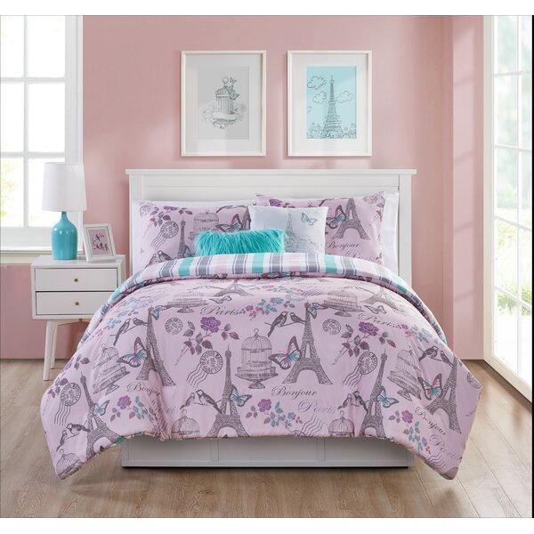 Dierking When in Paris Reversible Comforter Set by Harriet Bee