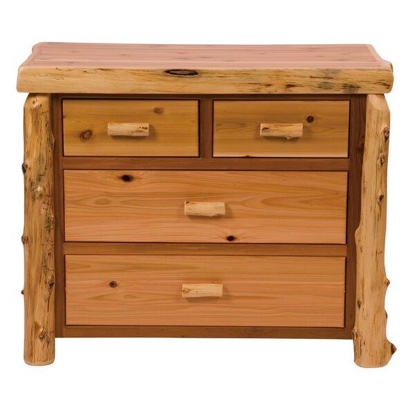 Value Cedar 4 Drawer Standard Dresser/Chest by Fireside Lodge Fireside Lodge