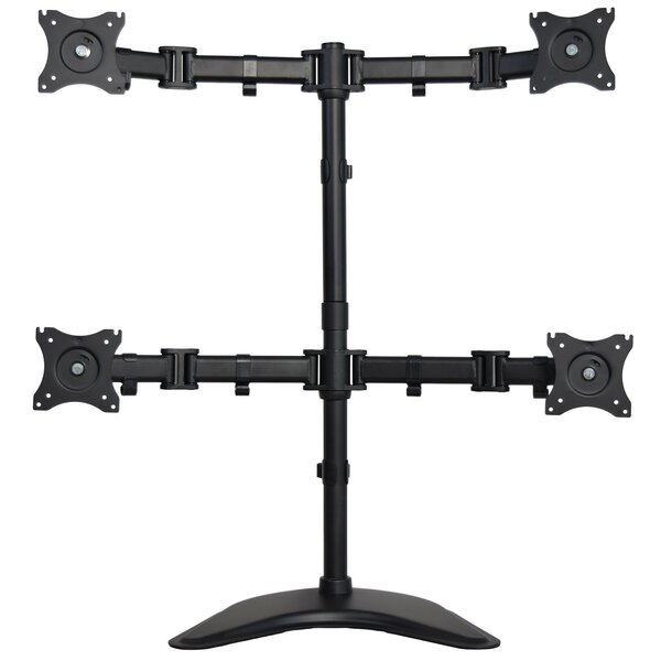 Height Adjustable 4 Screen Desk Mount by Vivo