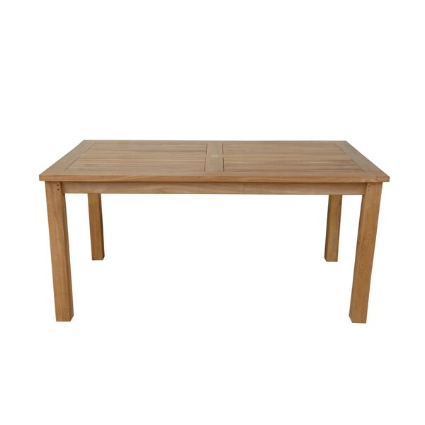 Bourque Solid Wood Dining Table by Freeport Park