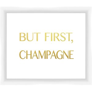 But First Champagne I Framed Textual Art by PTM Images