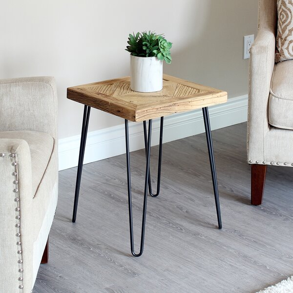 Warnick Diamond Old Elm End Table by Union Rustic