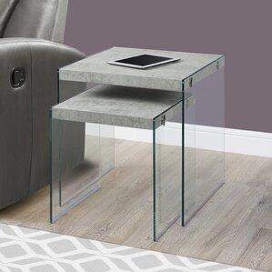 2 Piece Nesting Tables Set by Monarch Specialties Inc.