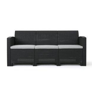 Bartonville Outdoor Patio Sofa With Cushions