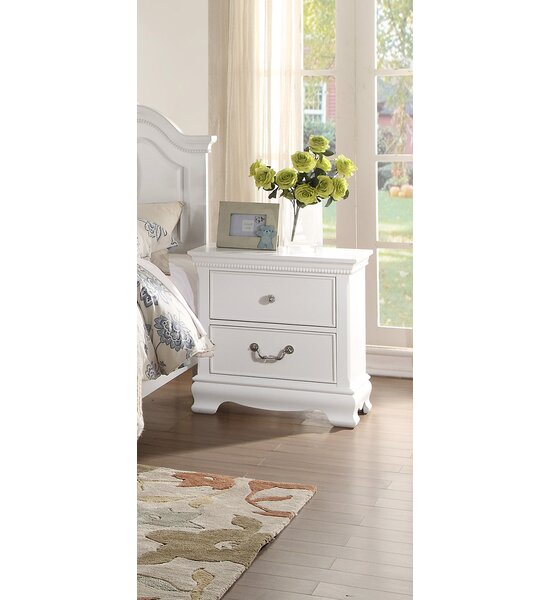 Sean Wooden 2 Drawer Nightstand by Alcott Hill