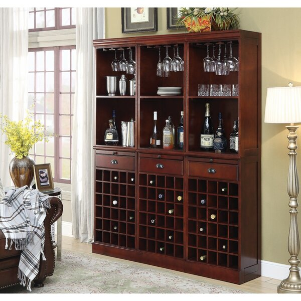 Ebro Wooden 90 Bottle Floor Wine Rack by Darby Home Co