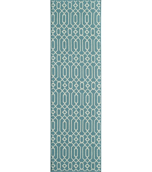 Halliday Traditional Blue Indoor/Outdoor Area Rug by Beachcrest Home
