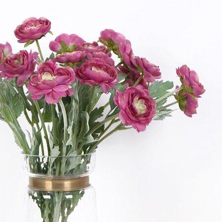 Silk Ranunculus Asiaticus Stem by Bungalow Rose