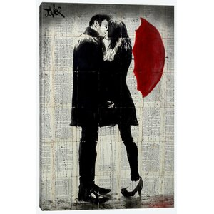 Winter's Kiss Painting Print on Wrapped Canvas by East Urban Home