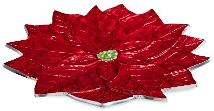 Poinsettia 15 Platter by Julia Knight Inc