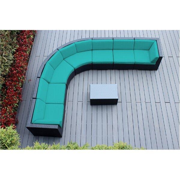 Popham 8 Piece Sunbrella Sectional Set with Cushions Brayden Studio FDDF1345