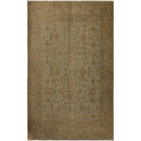 One-of-a-Kind Felicity Overdyed Color Reform Hand-Knotted Grayish Blue/Gold Area Rug by Isabelline