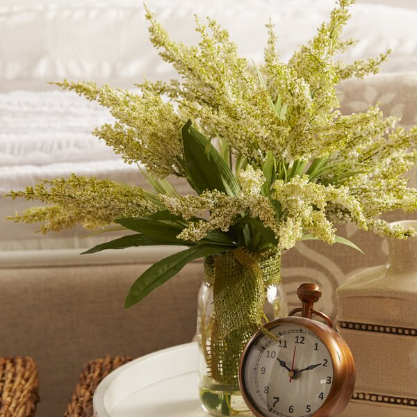 Amalia Spring Additions White Heather in Acrylic Water Mason Jar by Laurel Foundry Modern Farmhouse