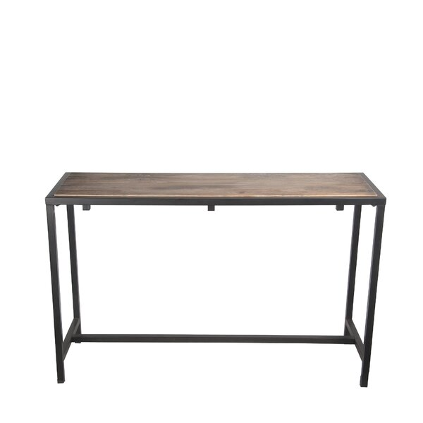 Kensett Metal Reclaimed Wood Console Table by Williston Forge