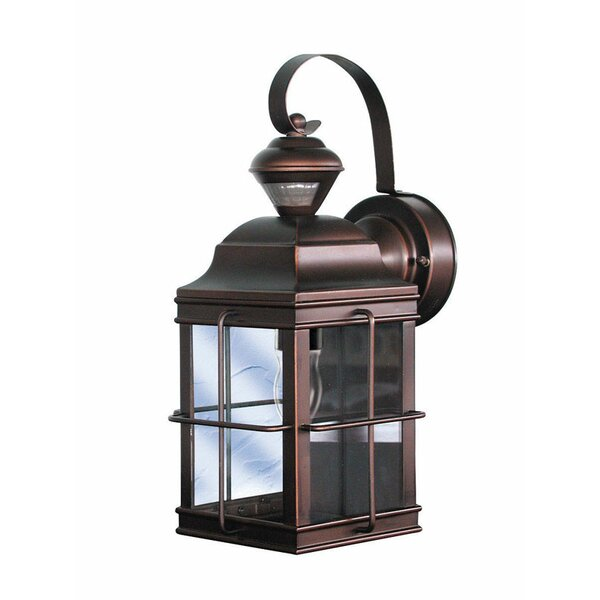 Gerke Metal Carriage Outdoor Wall Lantern with Motion Sensor by World Menagerie