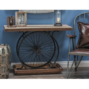 Metal/Wood Wheel Console Decorative Bird Cage by Cole & Grey