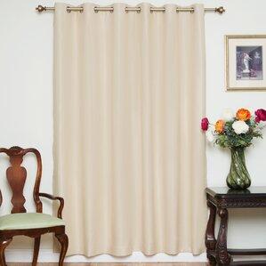 nickel solid blackout thermal grommet single curtain panel