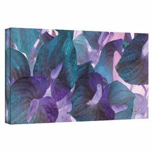 'Blue Dream' by Herb Dickinson Print of Painting on Wrapped Canvas by ArtWall