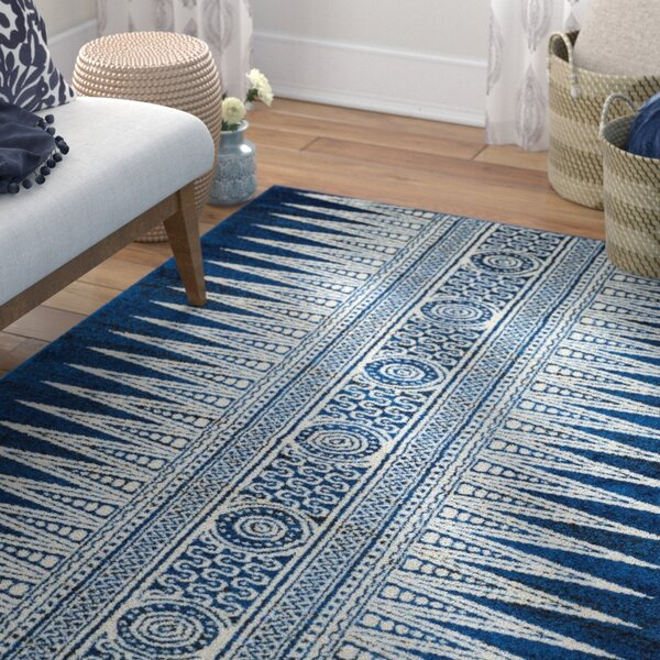 Elson Royal/Ivory Area Rug by Mistana