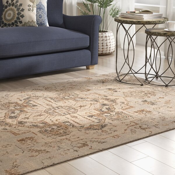 Bunn Light Blue/Beige Area Rug by Mercury Row